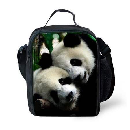 Lunch Boxes Children Tote & Shoulder Insulated Lunch Bag with Zip Closure, Water Bottle Holder Bag,