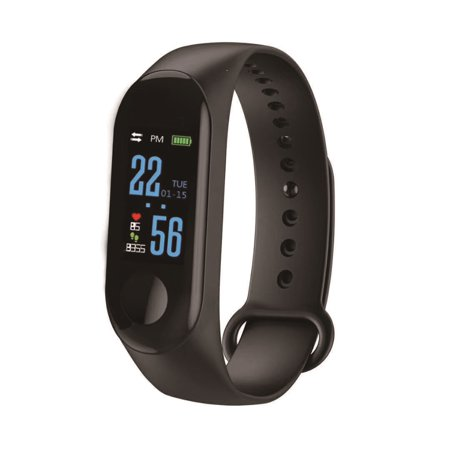Fitness Tracker with Pedometer, Calorie Counter, Heart Rate, BP, Sleep and Pulse Monitor, Smart Alarm, Call Reminder, Sedentary Reminder, Drinking Reminder, Anti-Loss Feature & Remote