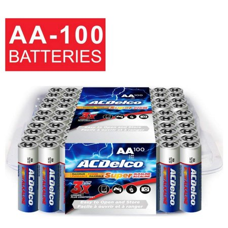ACDelco Super Alkaline AA Batteries, 100-Count (Aa Top 100)