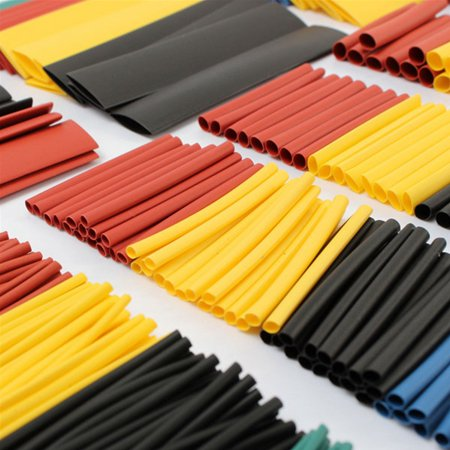 328pcs 8 Size 5 Color Assortment Ratio 2:1 Heat Shrink Tube Sleeve Wrap Wire Assorted Kit Halogen-Free  - image 2 of 5