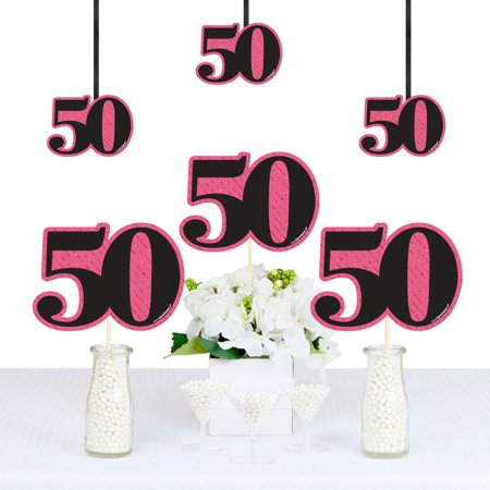 Chic 50th Birthday - Decorations DIY Party Essentials - Set of 20