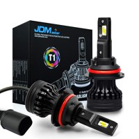 JDM ASTAR Newest Version T1 10000 Lumens Extremely Bright High Power 9007 All-in-One LED Headlight Bulbs Conversion Kit, Xenon White