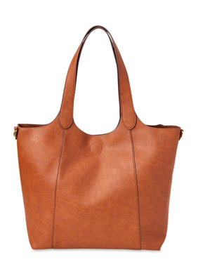 No Boundaries Essential Faux Leather Tote with Removable Crossbody Strap