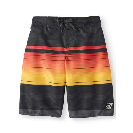 - Sundown Bold Stripe Swim Trunks (Big Boys)