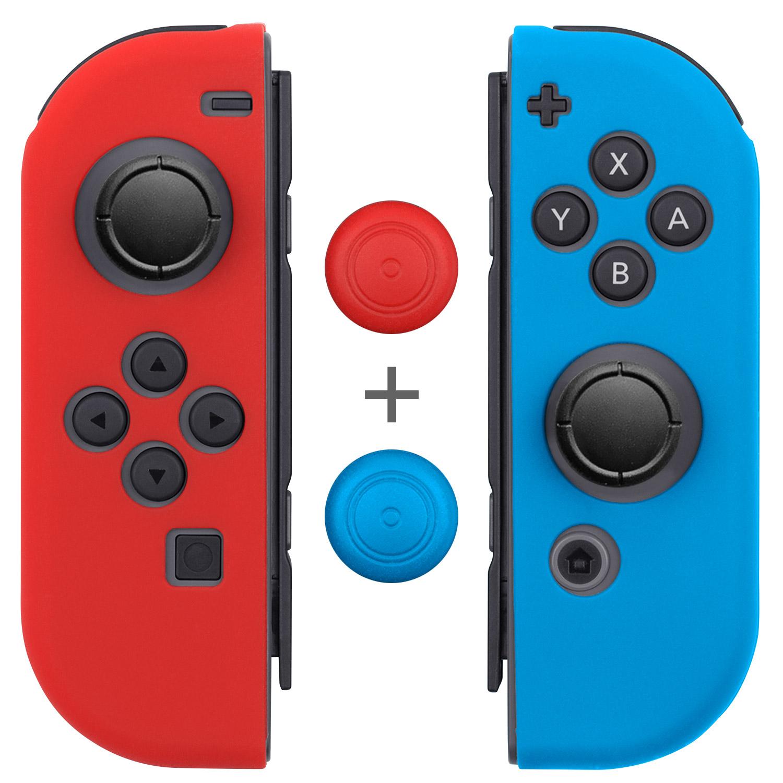 Fosmon for Nintendo Switch Joy-Con Joycon Slim Anti Slip Case Thumb Grip Caps