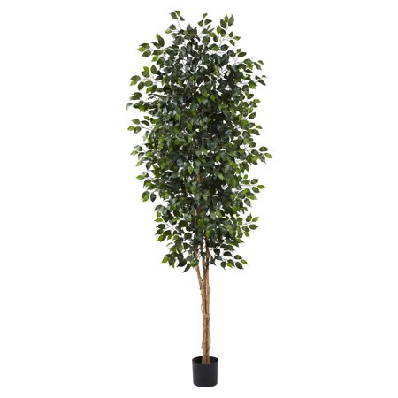 Nearly Natural 8 ft. Ficus Silk Tree
