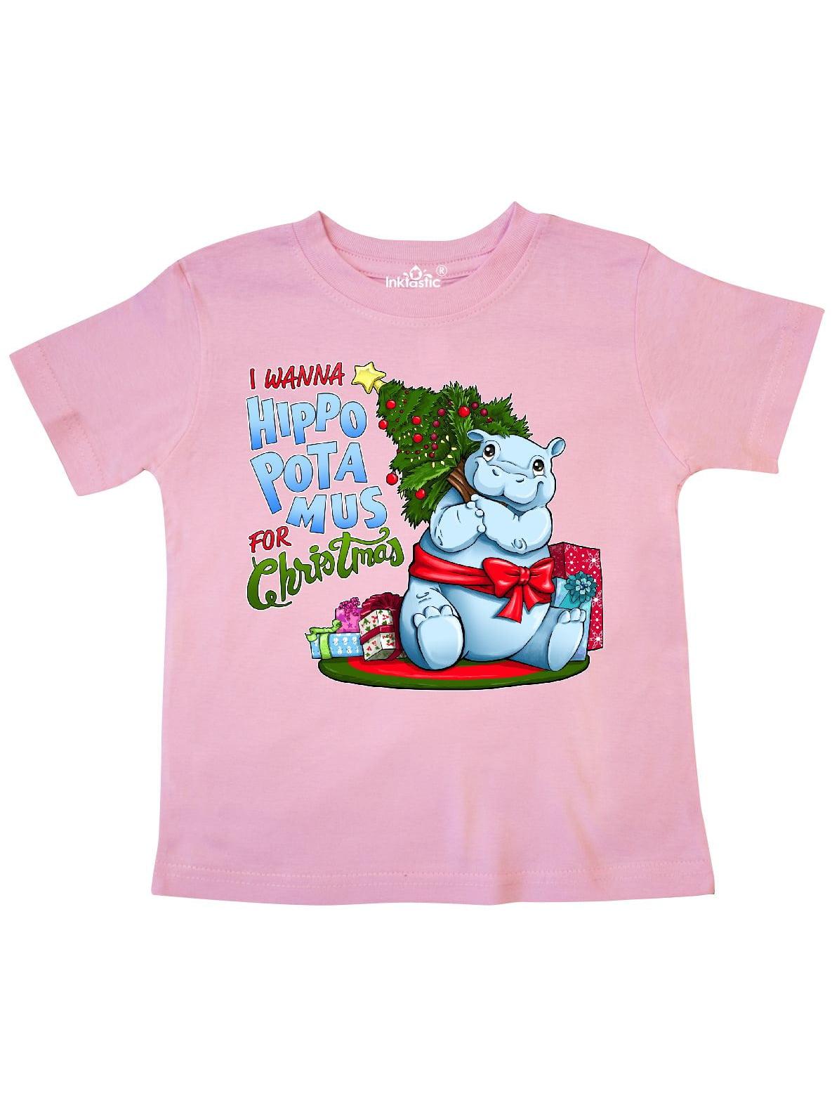 I Wanna Hippopotamus for Christmas- cute hippo Toddler T-Shirt