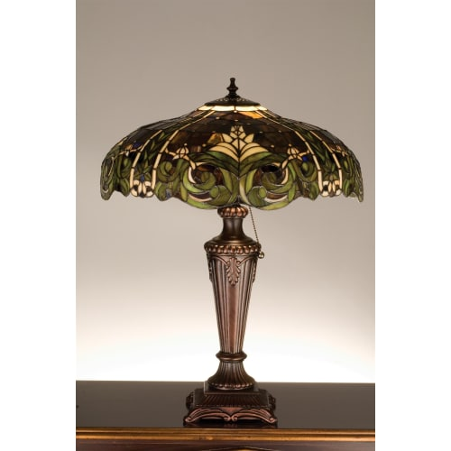 Meyda Tiffany 30386 Stained Glass / Tiffany Table Lamp from the Byzantine & Tahi