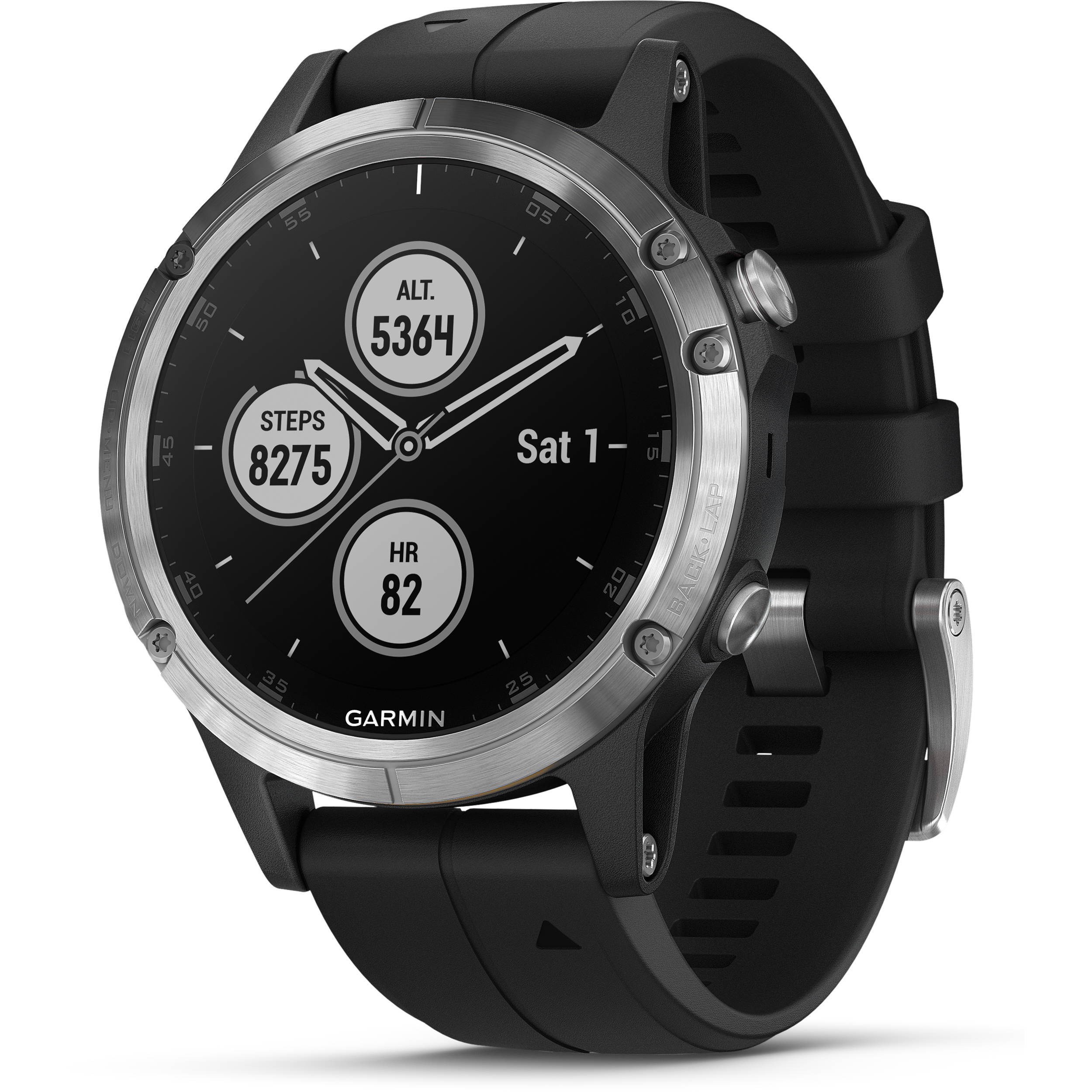 Garmin Fenix 5 Plus Glass Premium Multisport Watch with Music, Maps, and Garmin Pay