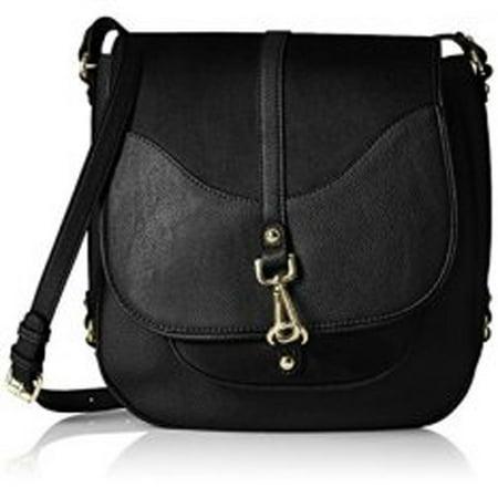 Calvin Klein Women's Unlined Novelty Messenger, Black/Black (Suede Messenger)