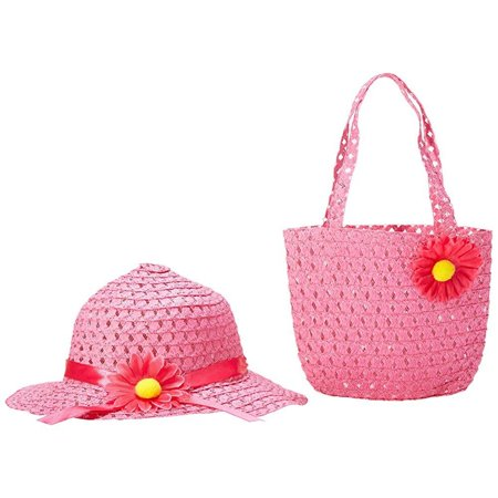 Girls Tea Party Hat and Purse Dress Up Set - Fuchsia (Girls Tea Party)