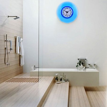 Mini Cute Bathroom Kitchen Mirror Suction Wall Clock Shower ...