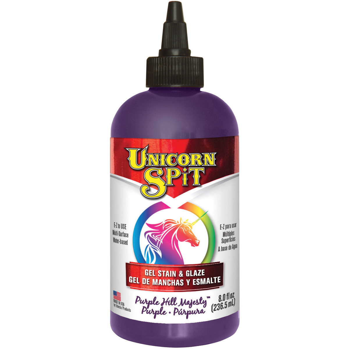 Unicorn Spit Wood Stain & Glaze 8oz-Purple Hill Majesty