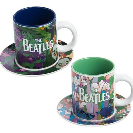 - The Beatles: Yellow Submarine Cup & Saucer 4-Piece Set