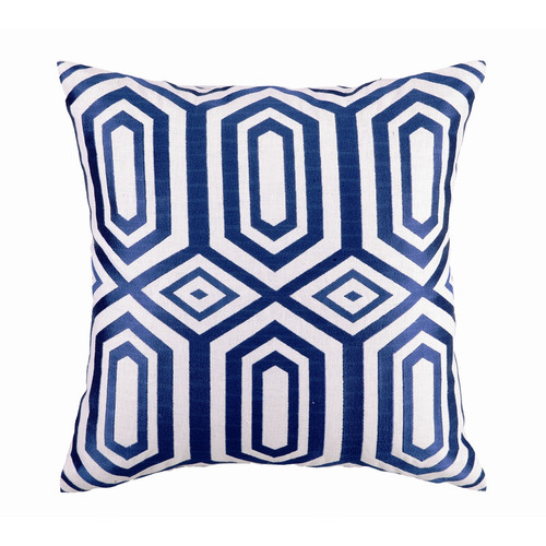 Sis Boom by Jennifer Paganelli Hotel Soho Embroidered Linen Throw Pillow