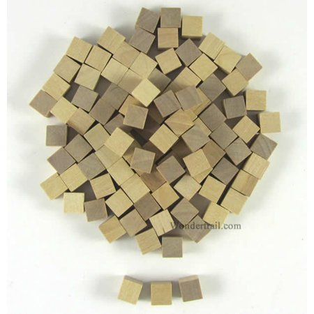 10mm Wooden Cube Tokens Natural Mayday Games
