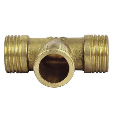 1/2BSP Male Thread T-Shaped 3 Ways Air Pneumatic Quick Connect Fitting Coupler - image 2 of 3