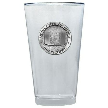 Miami Hurricanes Pint Glass