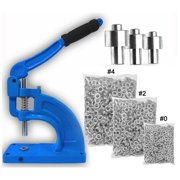 Clevr Hand Press Grommet Machine with 900 Grommets & 3 Dies #0 #2 #4 Kit