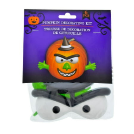 Pumpkin Decorating Craft Kit Plastic Push In No Carving (Witch), Imagine how easy and fun decorating your pumpkins with no carving and no mess! By Scary Things - Pumpkin Push Ins