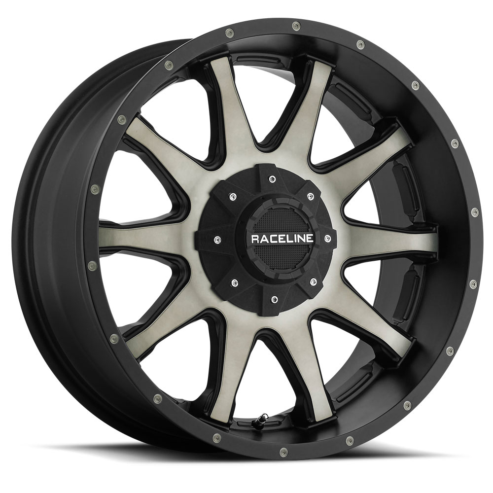 "Raceline 930DM Shift 17x8.5 6x135/6x5.5"" +18mm Black/Machined Wheel Rim"