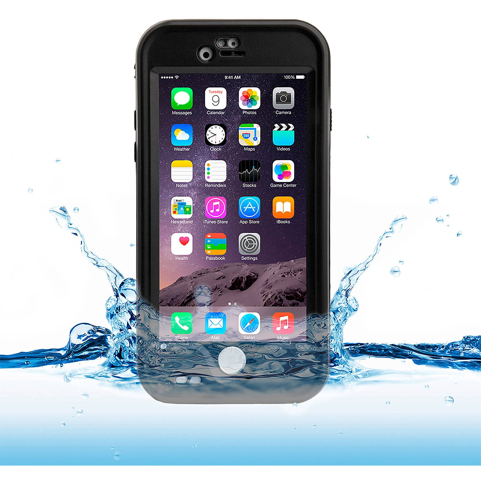 Naztech Vault+ Waterproof Cover for iPhone 6 - Black