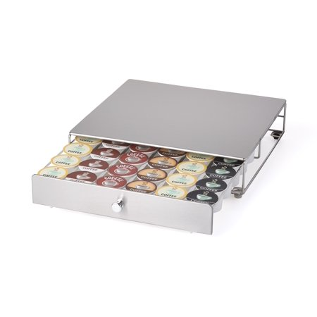 Nifty Keurig Approved Stainless Steel Rolling K Cup Drawer