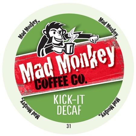 Mad Monkey Medium Roast Kick It Decaf With Full Of Sweet And Arabica Flavor RealCups
