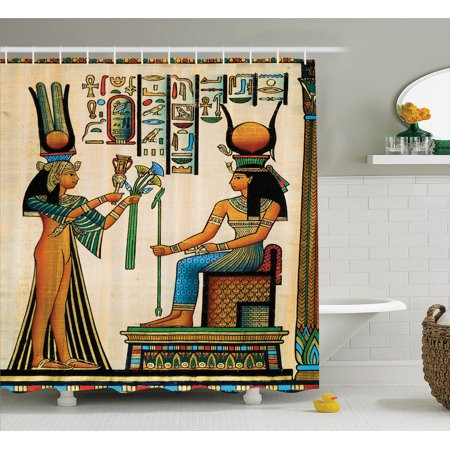 Egyptian decor old egyptian papyrus depicting queen for Bathroom accessories egypt