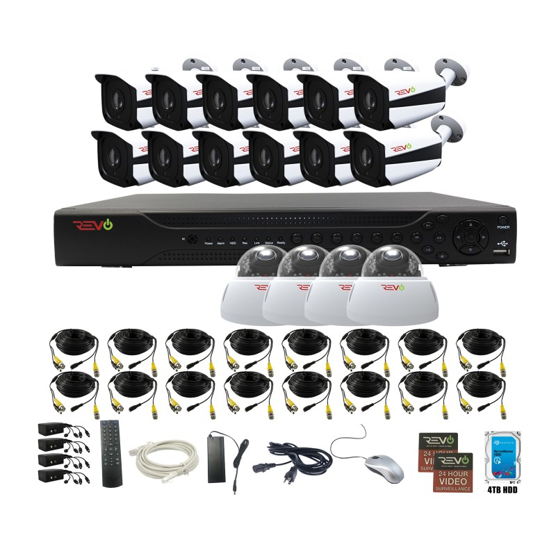 RevoAmerica Aero HD 16 Ch. Video Security System with 16 Indoor/Outdoor 5 Megapixel Cameras