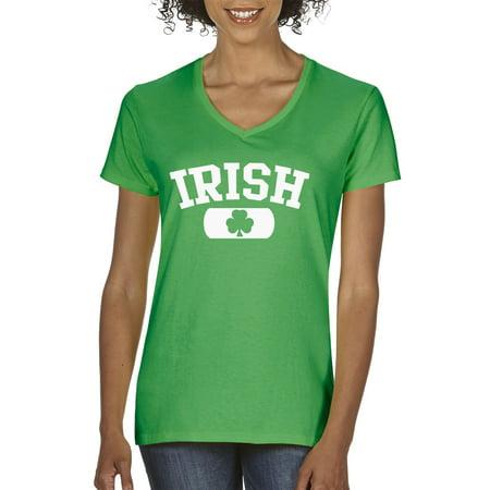 St Patricks Day Sale (New Way 135 - Women's V-Neck T-Shirt Irish Clover St Patricks)