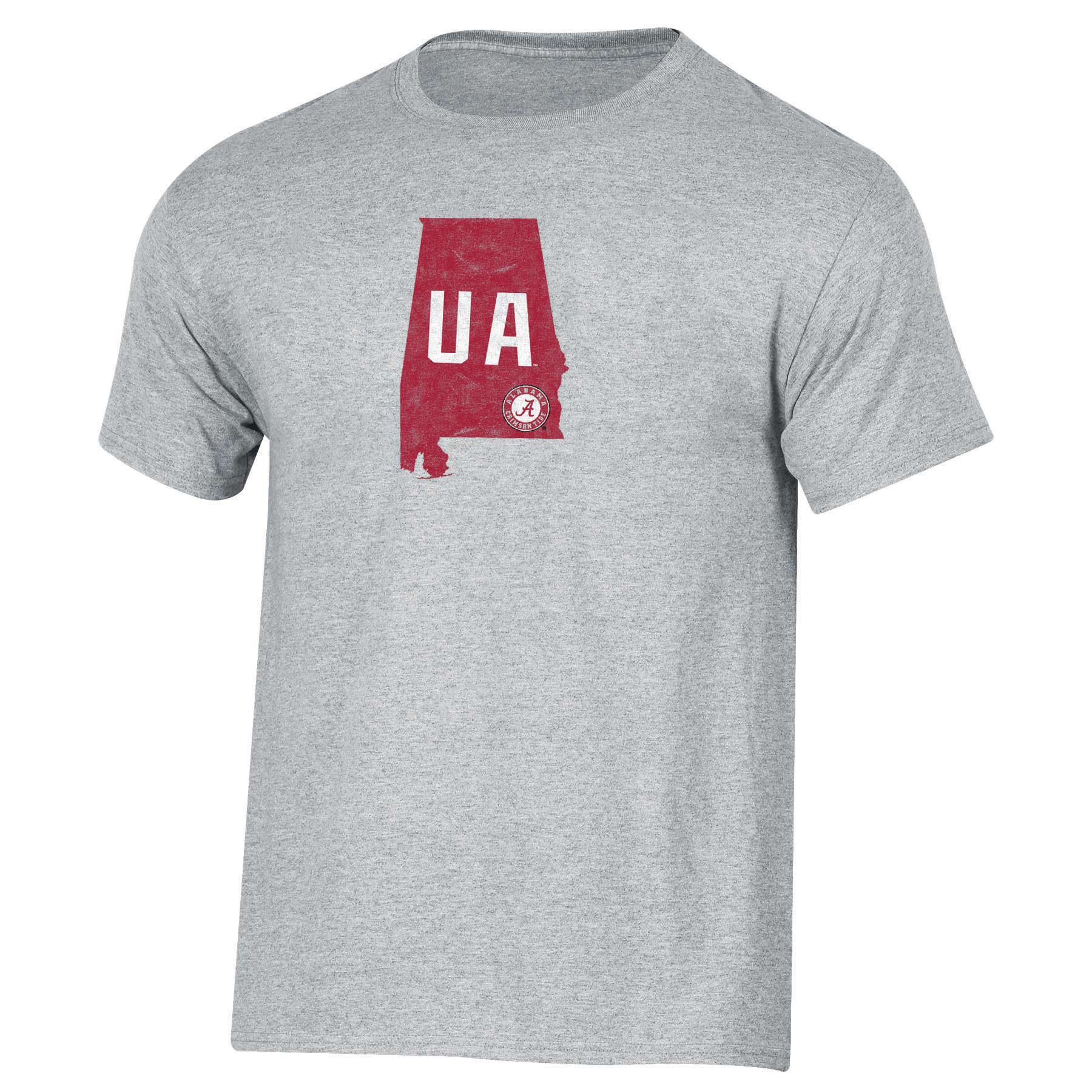 Men's Russell Heathered Gray Alabama Crimson Tide Inner-State T-Shirt