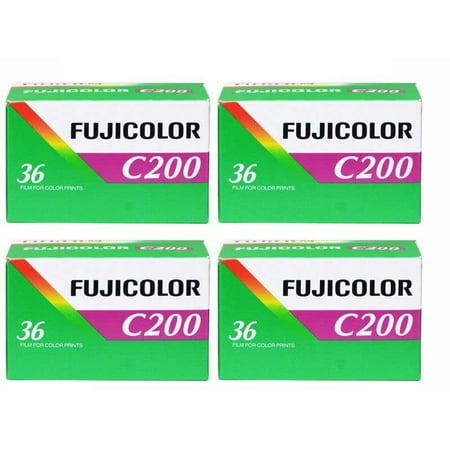 4 Rolls Fujifilm Fujicolor C200 ISO 200 36 exposure 135-36 35mm Color Film
