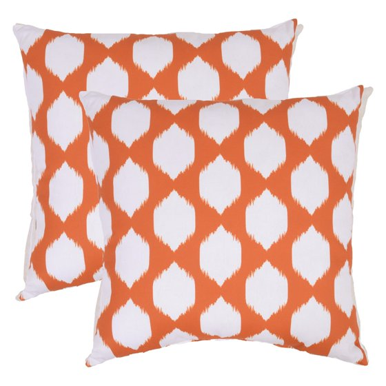 Newport Decorative Pillows Set Of 2 : Plantation Patterns Ogee 22 in. Throw Pillow - Set of 2 - Walmart.com