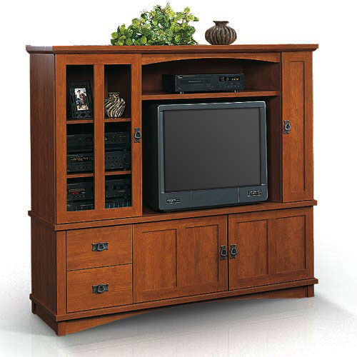 Sauder Entertainment Center Mission Collection Walmart Com