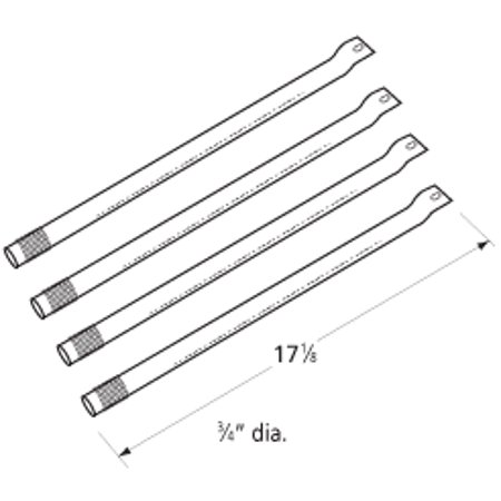 Universal Stainless Steel Gas Grill Replacement Burner 16731  4 Pack