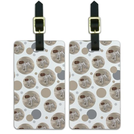 Graphics and More German Shorthaired Pointer Dog Luggage Suitcase Carry-On ID Tags Set of 2