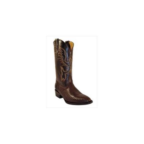 Ferrini 1111109160D Mens Genuine Teju Lizard Round Toe Boots, Chocolate, 16D by