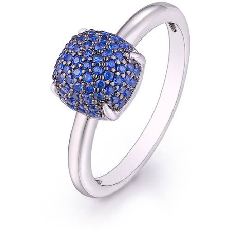 Sapphire Spinel 18kt White Gold-Tone Ring