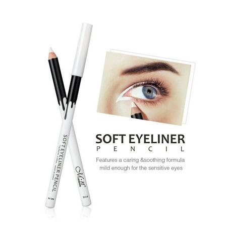 12PC White Eyeliner Pencil Eye Liner Waterproof Long Lasting Eye