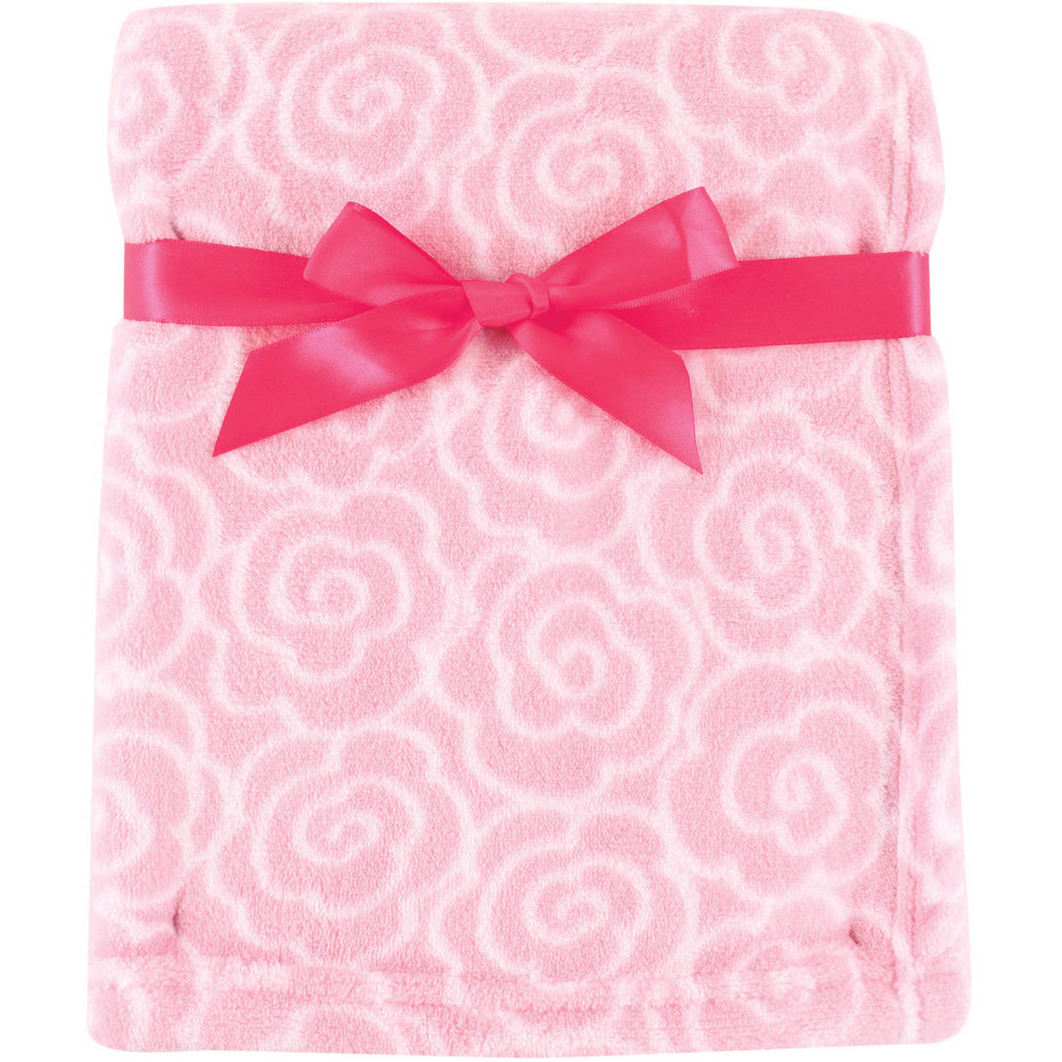 Luvable Friends Coral Fleece Blanket, Pink Rose