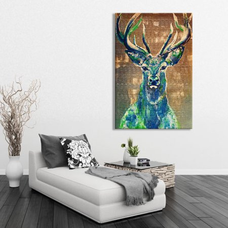 Meigar Watercolor Canvas Animal Deer Painting Home Decor Prints Picture Wall Art Hanging, (Deer Painting)