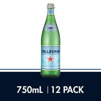 S.Pellegrino Sparkling Natural Mineral Water, 25.3 fl oz. Glass Bottles (12 Count)