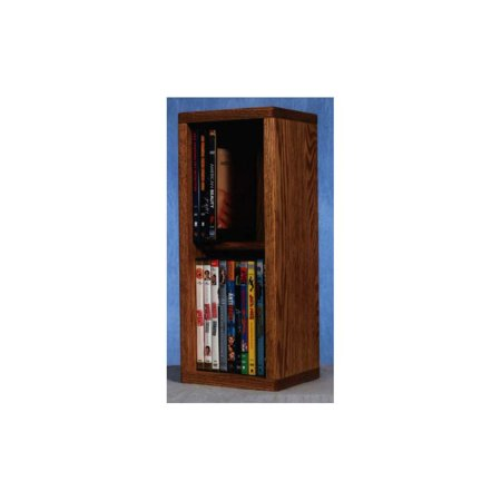 2 Row Dowel DVD Storage (Honey Oak)