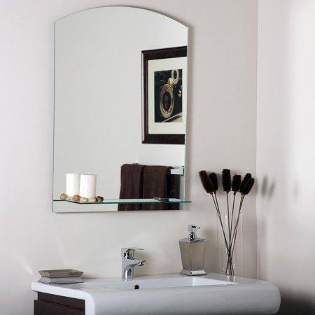 Décor Wonderland The Arch Frameless Mirror with Shelf - 23.6W x 31.5