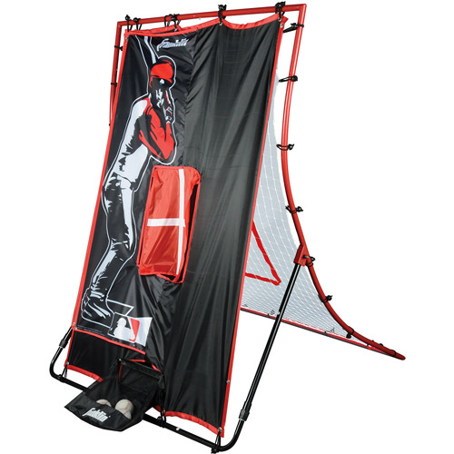 "Franklin Sports MLB 65"" 2-In-1 Switch-Hitter Flyback Return Trainer"