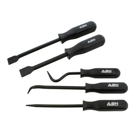 ABN | Hook and Pick Set – 5 Piece Hook Pick and Scraper Set Mechanic Hand Tools