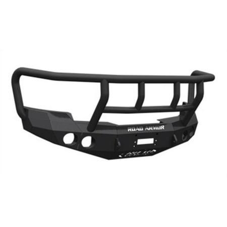 Road Armor Front Stealth Non-Winch Illuminator Bumper Pre-Runner Square Light Port in Satin Black (Black) - 611R4B-NW