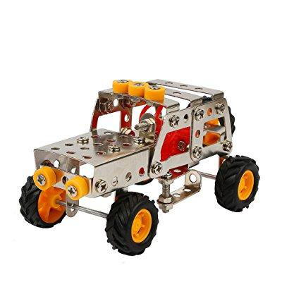 Boy Toysurophylla Diy Assemble Toy Construction Metal Truck Vehicles Model Kits Car