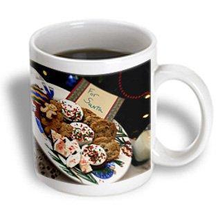 3dRose Holiday, Christmas cookies and milk for Santa - LI09 CMI0052 - Cindy Miller Hopkins, Ceramic Mug, 11-ounce